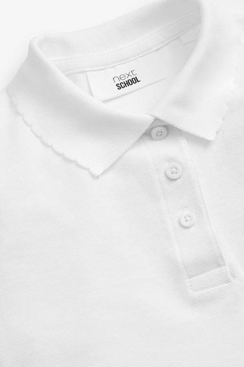 Next 5 Pack Short Sleeve Polo Shirts (3-16yrs)-Slim Fit