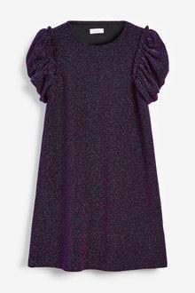 Next Sparkle Puff Sleeve Dress (3-16yrs) - 267516