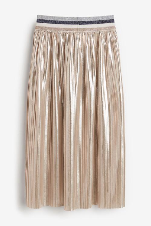 Next Metallic Pleated Midi Skirt (3-16yrs)