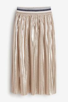 Next Metallic Pleated Midi Skirt (3-16yrs) - 267535