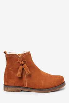 Next Premium Suede Tassel Boots (Older) - 267591