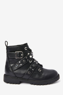 Next Lace-Up Studded Boots (Older) - 267596