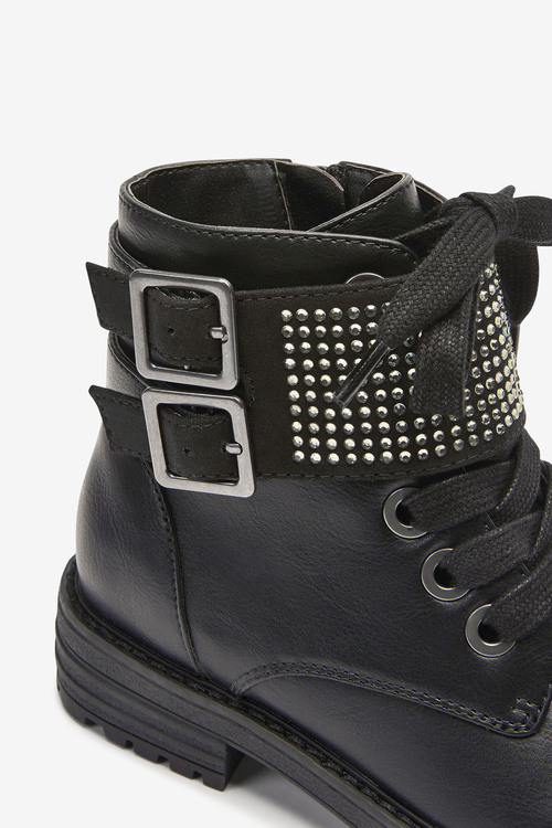Next Chunky Diamante Strap Boots (Older)