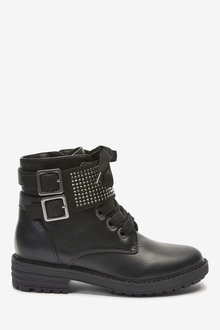 Next Chunky Diamante Strap Boots (Older) - 267610