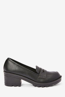 Next Chunky Heel Loafers (Older) - 267634