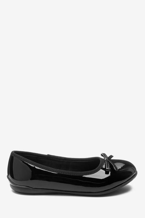 Next Leather Ballet Shoes (Older)-Standard Fit-Standard Fit