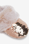 Next Sequin Faux Fur Mule Slippers (Older)