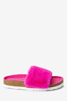 Next Faux Fur Corkbed Sliders (Older) - 267664