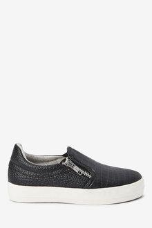 Next Croc Effect Skate Shoes (Older) - 267669