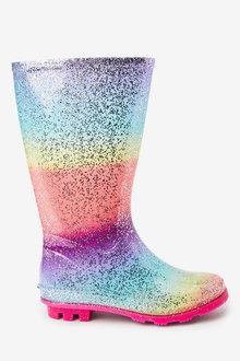 Next Rainbow Glitter Wellies (Older) - 267687