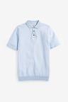 Next Short Sleeve Textured Polo Top