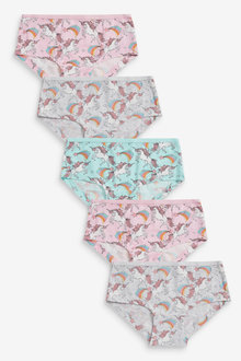 Next 5 Pack Unicorn Hipster Briefs (2-16yrs) - 267724
