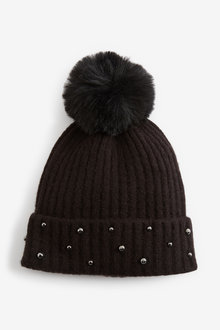 Next Pearl Effect Beanie Hat (Older) - 267747