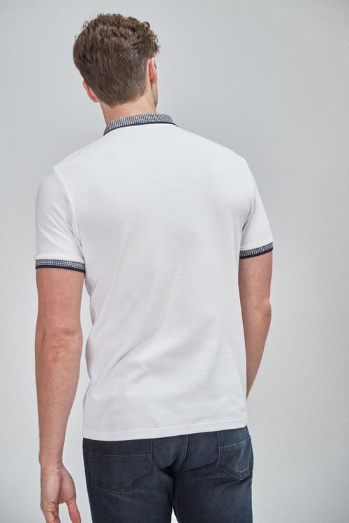 Next Printed Collar Polo