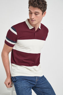 Next Block Stripe Pique Polo - 267795