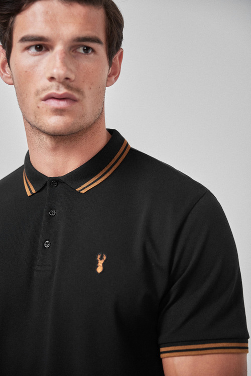 Next Stretch Tipped Polo-Regular Fit