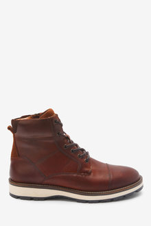 Next Leather Toe Cap Boots - 267817