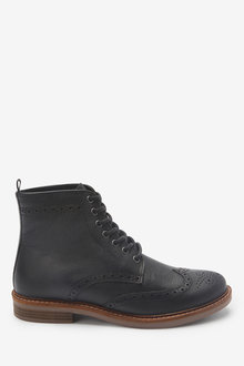 Next Leather Brogue Boots - 267820