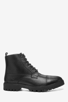 Next Leather Toe Cap Boots - 267821