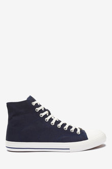 Next Stag Canvas High Top Trainers - 267825