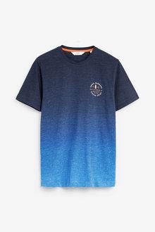 Next Dip Dye Graphic Regular Fit T-Shirt - 267876