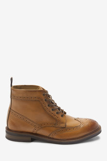 Next Modern Heritage Leather Brogue Boots - 267900