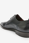Next Signature Italian Leather Punched Toe Cap Derby Shoes