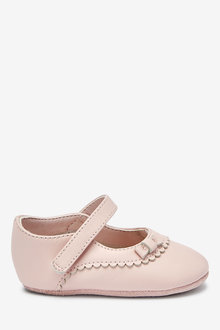 Next Leather Mary Jane Pram Shoes (0-18mths) - 267922