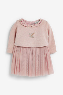 Next Bunny Embroidery Detailed Tutu Dress (0mths-2yrs) - 267928