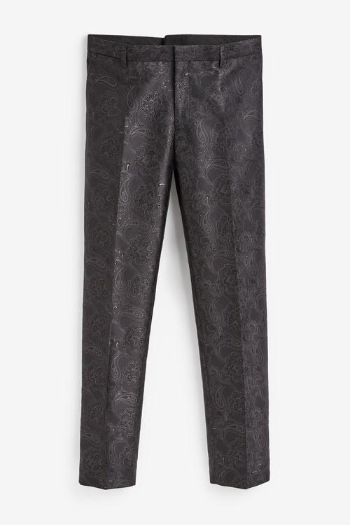 Next Paisley Pattern Jacquard Suit: Trousers
