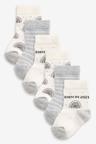 Next 5 Pack Cotton Rich Born In 2021 Socks (Newborn)