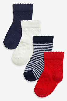 Next 4 Pack Pointelle Socks (Younger) - 268001