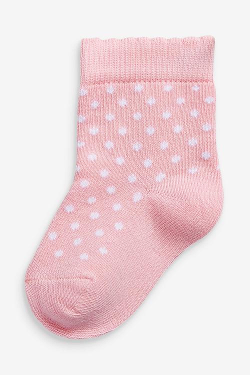 Next 4 Pack Stripe/Spot Socks (Younger)