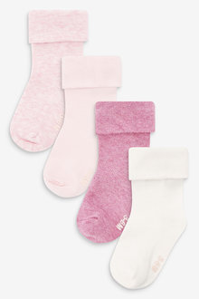 Next 4 Pack Roll Top Socks (Younger) - 268004