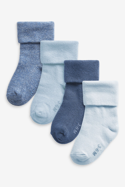 Next 4 Pack Roll Top Socks (Younger)
