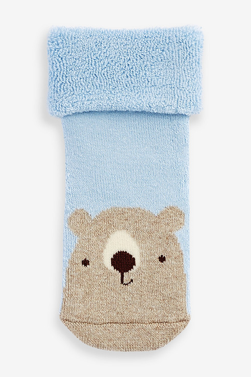 Next 3 Pack Terry Towelling Bear Socks (Younger)