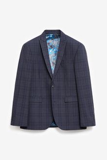 Next Regular Fit Check Suit: Jacket - 268027