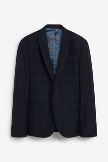 Next Skinny Fit Check Suit: Jacket - 268028