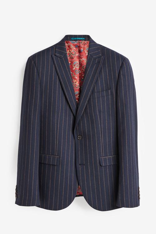 Next Slim Fit Stripe Suit: Jacket