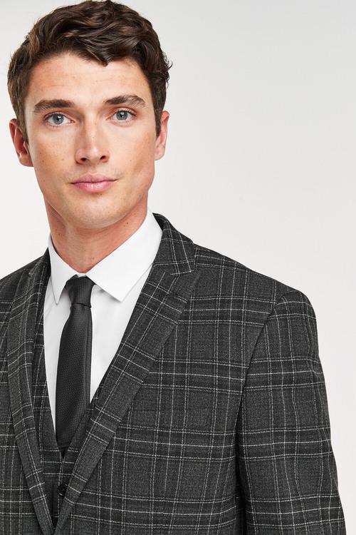 Next Bi-Stretch Check Suit: Jacket