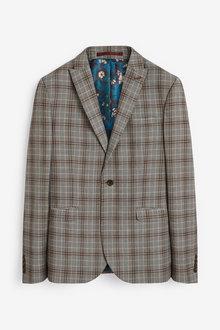 Next Skinny Fit Stripe Suit: Jacket - 268033