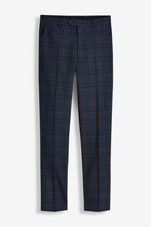 Next Regular Fit Check Suit: Trousers - 268044