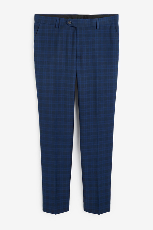 Next Tailored Fit Check Suit: Trousers