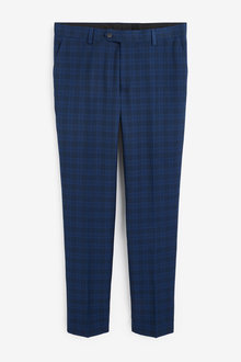 Next Tailored Fit Check Suit: Trousers - 268050
