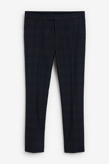 Next Skinny Fit Check Suit: Trousers - 268052