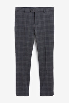 Next Skinny Fit Check Suit: Trousers - 268054