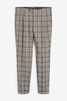 Next Skinny Fit Check Suit: Trousers - 268063