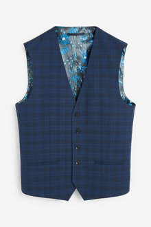 Next Check Suit: Waistcoat - 268079