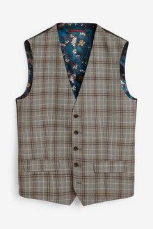 Next Check Suit: Waistcoat - 268081