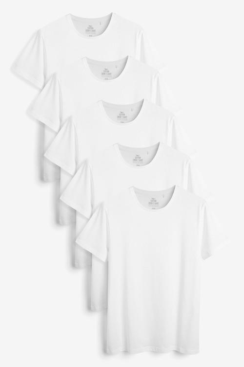 Next Regular Fit T-Shirts Five Pack